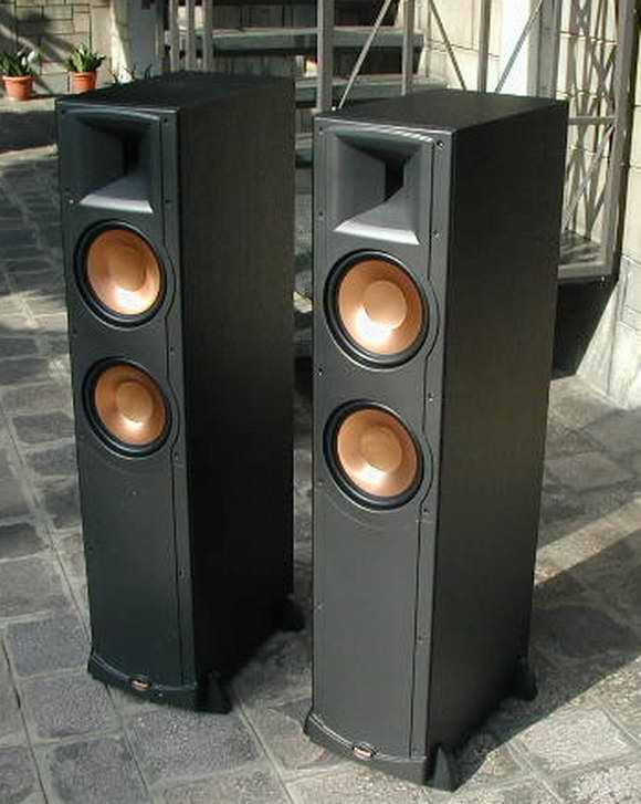 vendues frontale klipsch rf 82 et centrale rc 64 noires cin son. Black Bedroom Furniture Sets. Home Design Ideas